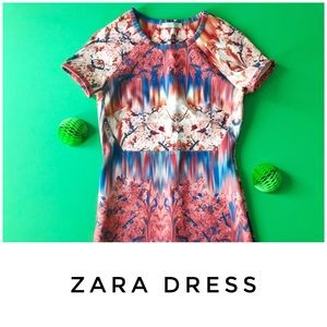 Zara dress size Medium cherry blossom scuba